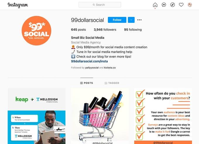 99 dólares social - agencia de redes sociales