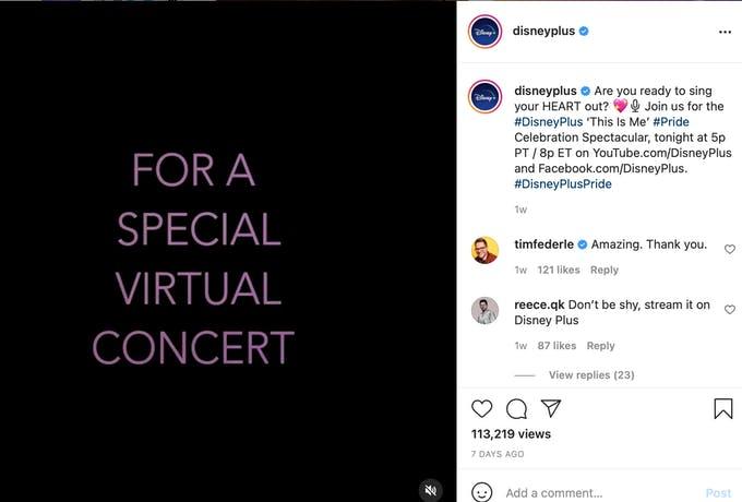 DisneyPlus apoya el orgullo con un concierto espectacular