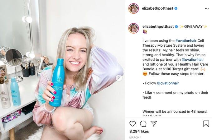 OvationHair utiliza influencers para promocionar sus productos