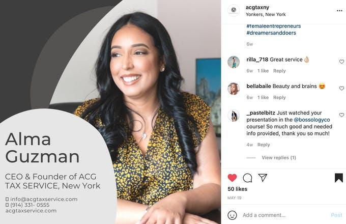 ACGtaxservice genera confianza al mostrar a las personas que están haciendo el trabajo