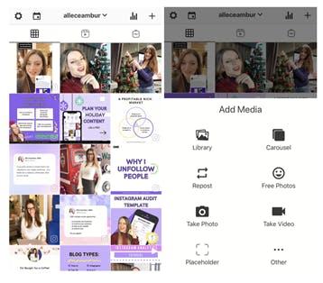 Aplicación de planificación de Instagram