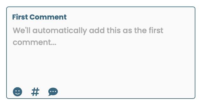 Agrega tu primer comentario al publicar en Instagram