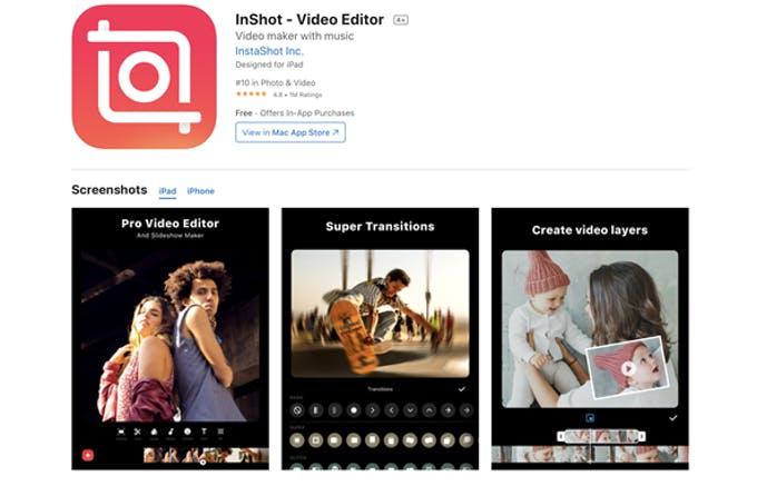 Aplicación de edición de video InShot Instagram Story